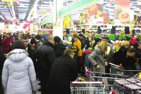 очередь в супермаркете